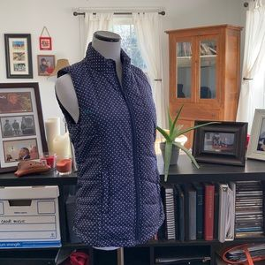Red Camel Navy W/White Dots Puffer Vest, Size S